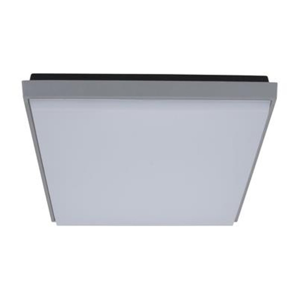 TAB-300 Square 30W Splashproof LED Ceiling Light - Silver Trim