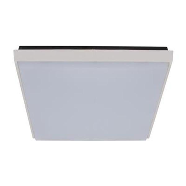 TAB-300 Square 30W Splashproof LED Ceiling Light - Satin White Trim