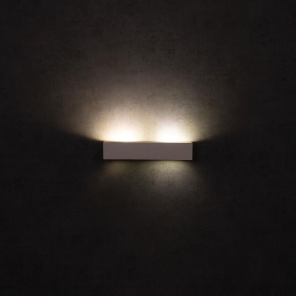 BF-2019 Ceramic 35cm Wall Uplight - Raw / G9