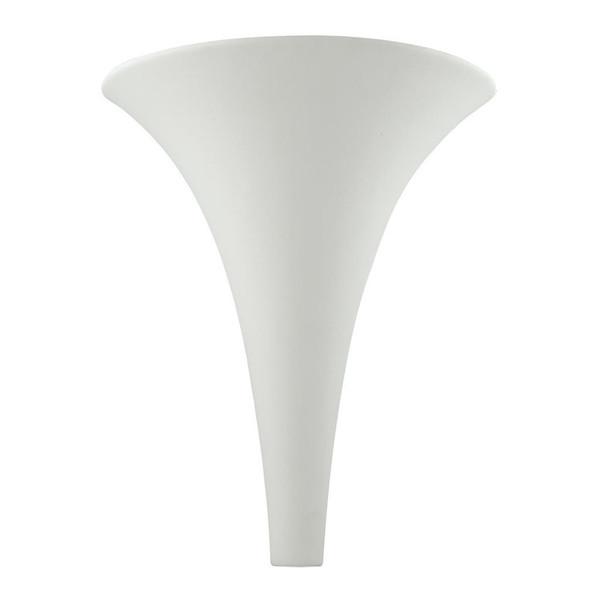 BF-2185 Ceramic Funnel Wall Light - Raw / G9