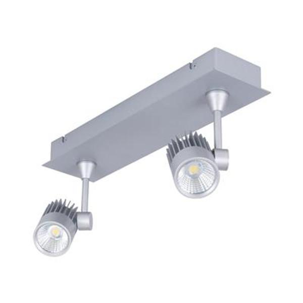 JET-2B 2 x 10W LED Spotlight Bar - Silver