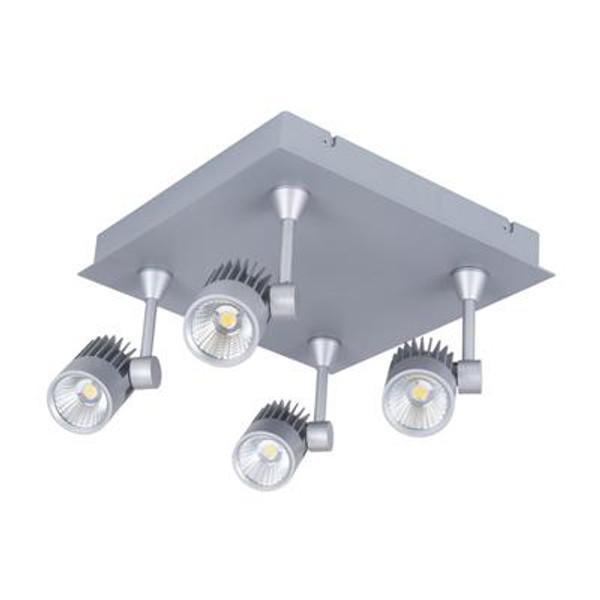 JET-4SQ 4 x 10W LED Spotlight Square - Silver