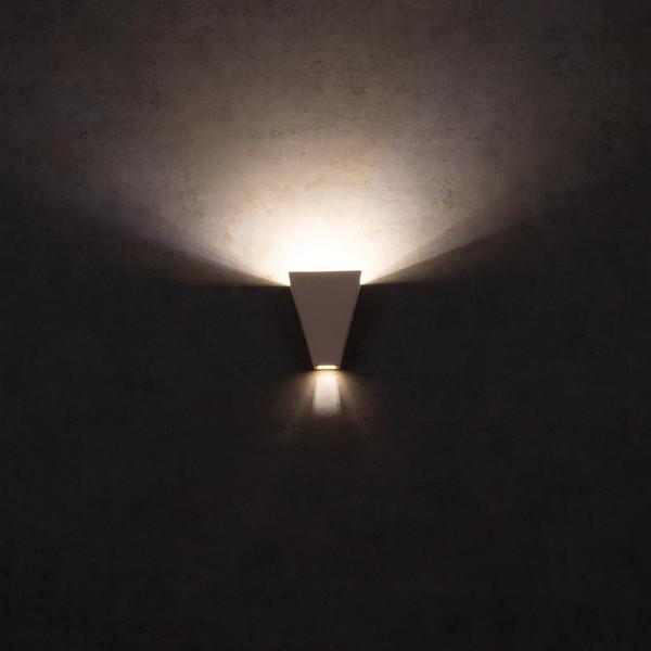 BF-2601B Ceramic Wall Uplight - Raw / G9