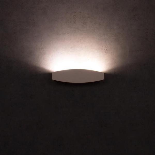 BF-2608A Ceramic Wall Uplight - Raw / G9