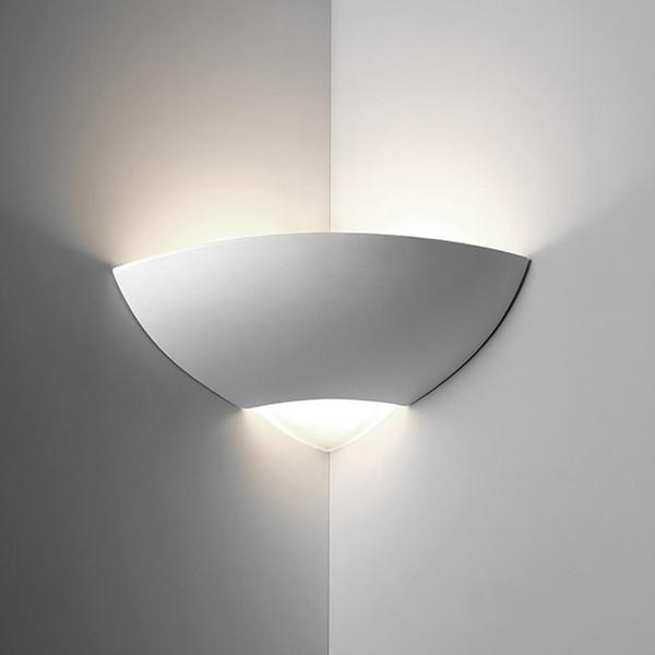 BF-7949 Ceramic Corner Wall Light - Raw / E27