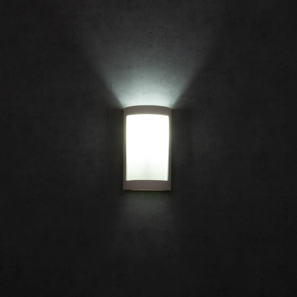 BF-8202 Ceramic Frosted Glass Wall Light - Raw / E27