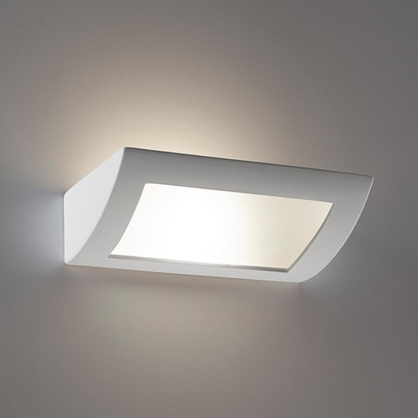 BF-8232 Ceramic Frosted Glass 30cm Wall Light - Raw / E27