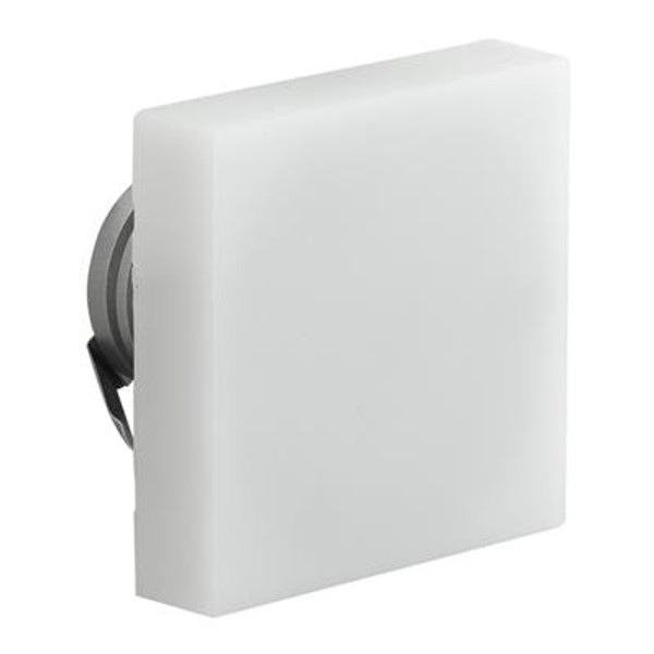 CHILL-SQUARE Semi Recessed 3W LED Steplight - Frosted Fascia