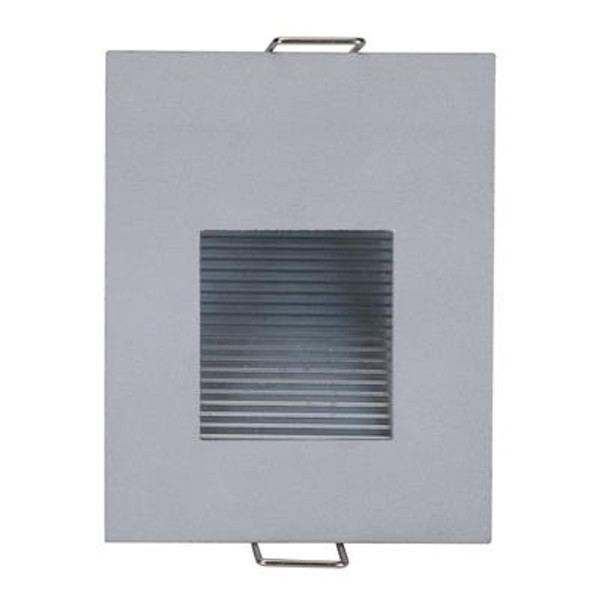 SLIDE-1 Recessed 1W LED Steplight - Silver Finish