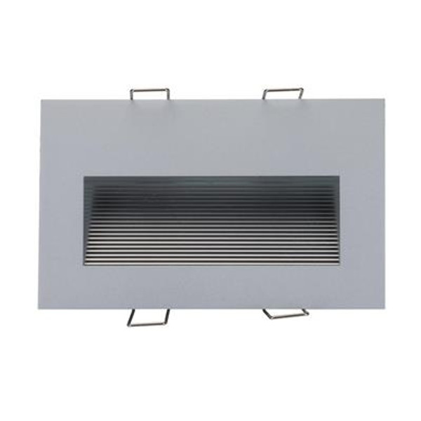 SLIDE-2 Recessed 2W LED Steplight - Silver Finish