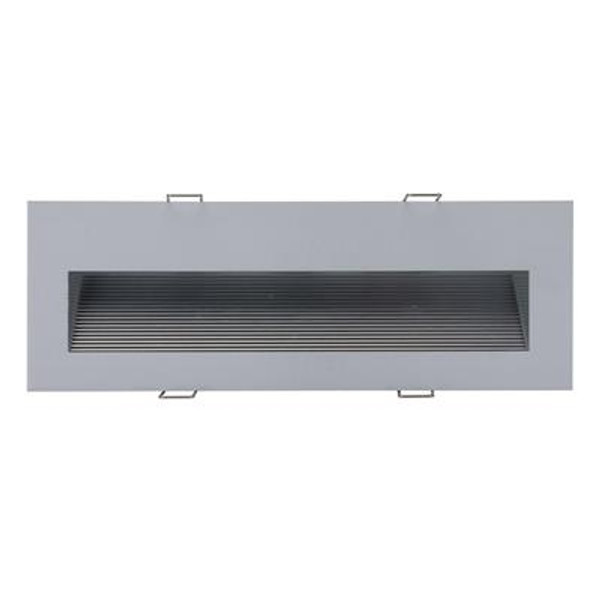 SLIDE-3 Recessed 3W LED Steplight - Silver Finish