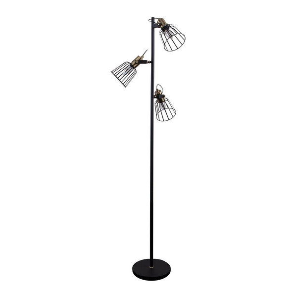 ASHLEY-3FL 3 LIGHT CAGE FLOOR LAMP 240V