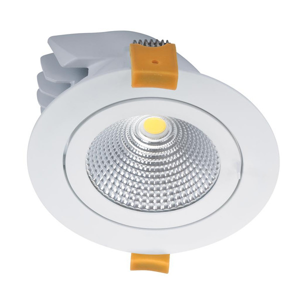 SCOOP-25 Round 25W Adjustable LED Downlight - White Frame