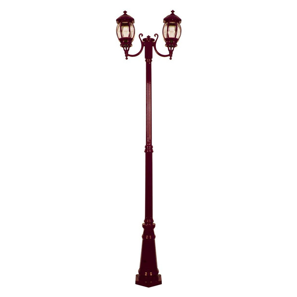 GT-1044 Vienna Twin Head Curved Arms Tall Post - Powder Coated Finish / B22