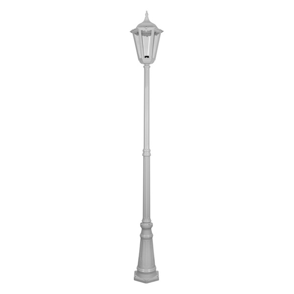 GT-168 Chester Large Single Head Tall Post Light - Powder Coated Finish / B22