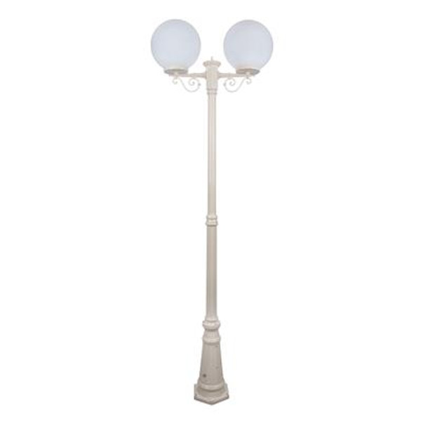 GT-561 Siena Twin 30cm Spheres Tall Post - Powder Coated Finish / E27