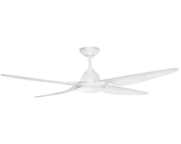 """RONDO 58"""" Ceiling Fan with Light White"""