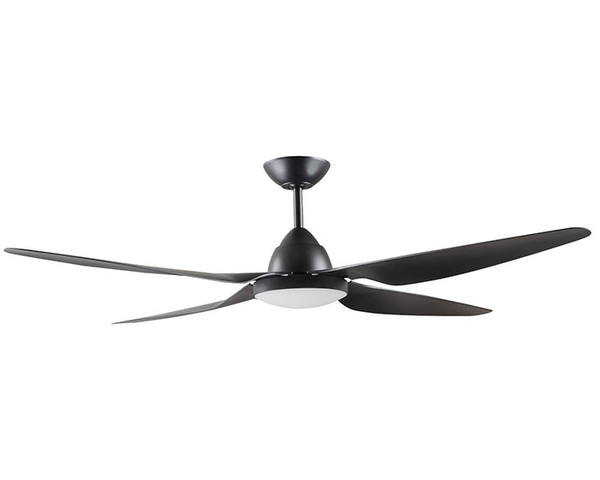 """RONDO 58"""" Ceiling Fan with Light Black"""
