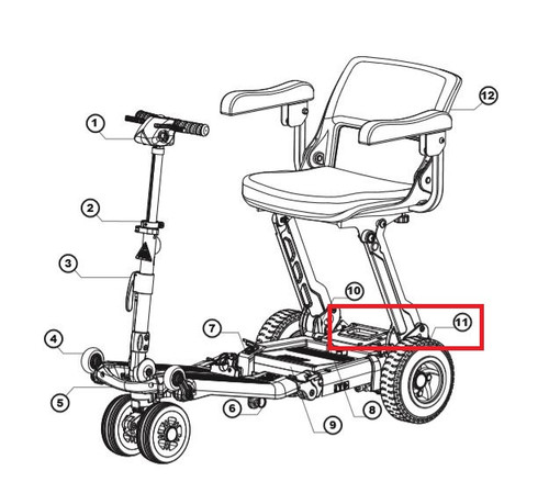Luggie Rear Bumper - #11 on diagram