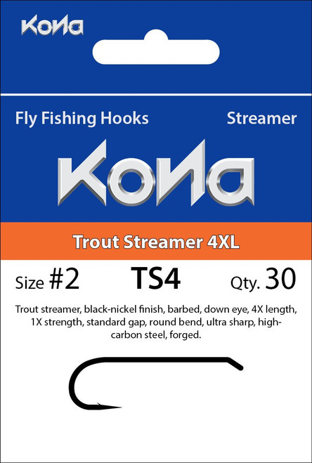 Kona TS4 Trout Streamer Hook