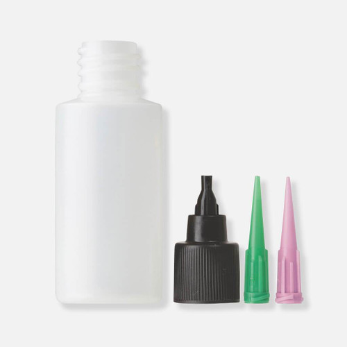 Loon applicator bottle and needles