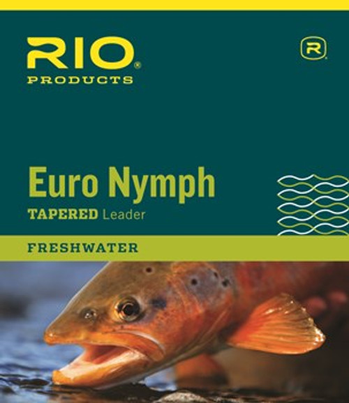 Euro Nymph Leader with Tippet Ring 0-2X