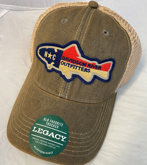 Legacy Old Favorite Hat NC Flag Trout Grey