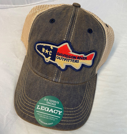 Legacy Old Favorite Hat NC Flag Trout Navy