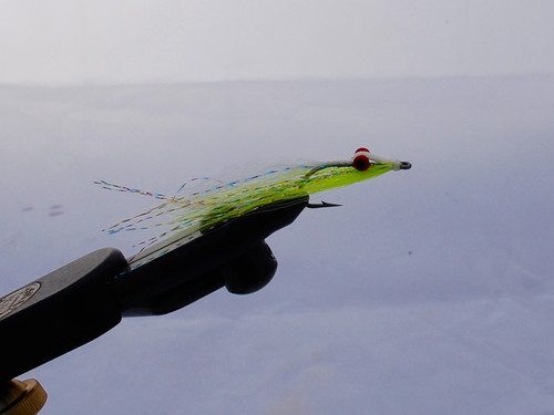 Chartreuse and White Clouser