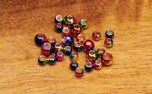 Multi Hued Rainbow Brass Beads