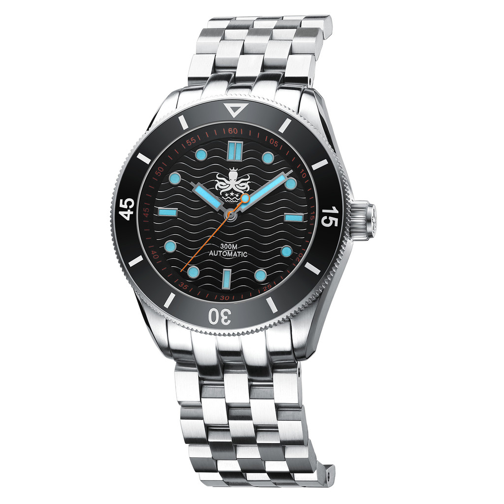 PHOIBOS WAVE MASTER PY009C 300M Automatic Dive Watch Black