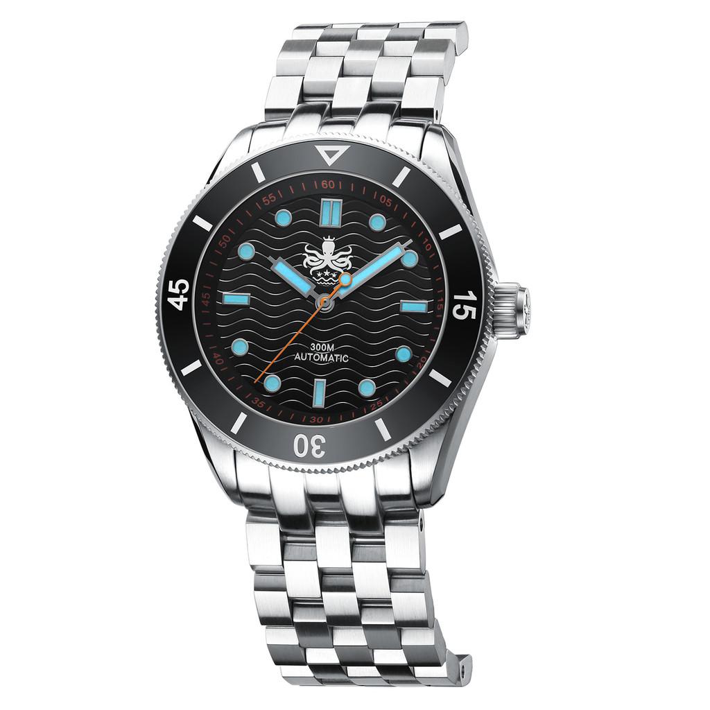 PHOIBOS WAVE MASTER PY009C 300M Automatic Dive Watch Black