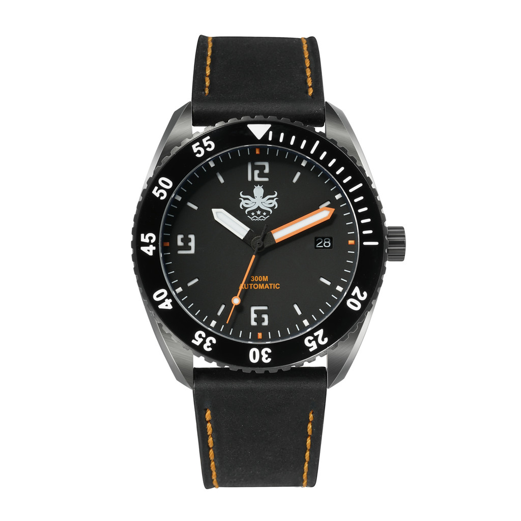 PHOIBOS REEF MASTER PY015D DLC 300M Automatic Diver Watch Orange