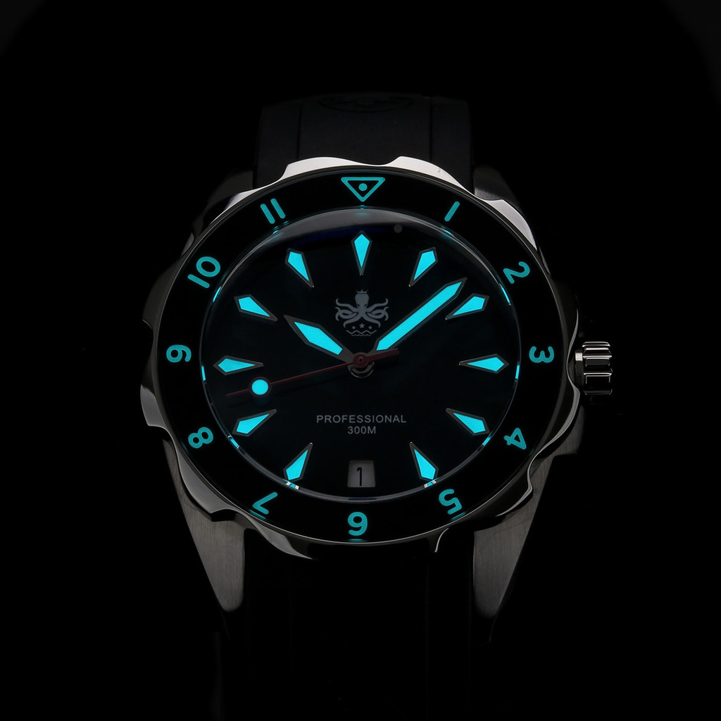 PHOIBOS SEA NYMPH 300M Lady Diver Watch PX021C Black
