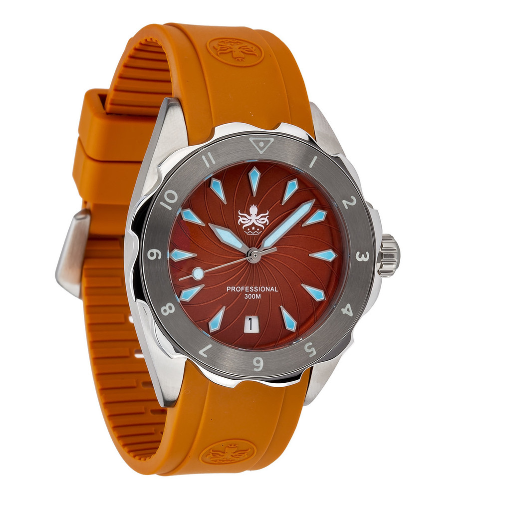 PHOIBOS SEA NYMPH 300M Lady Diver Watch PX021D Orange