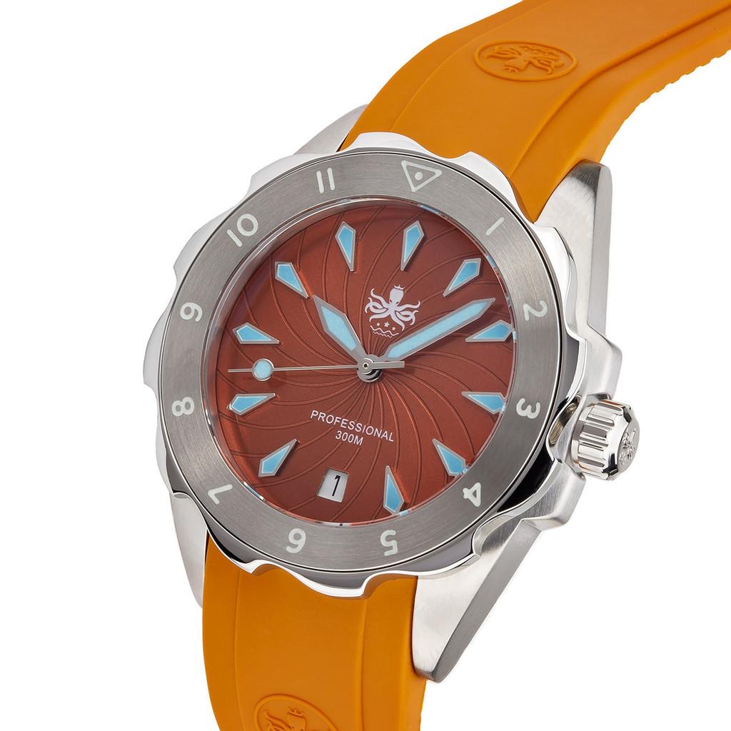 PHOIBOS SEA NYMPH 300M Lady Diver Watch PX021D Orange