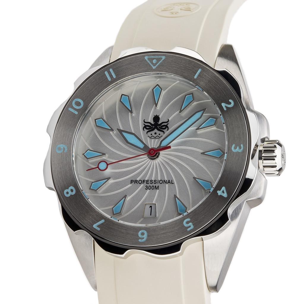 PHOIBOS SEA NYMPH 300M Lady Diver Watch PX021F White
