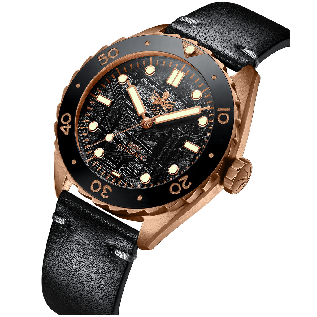 PHOIBOS EAGLE RAY BRONZE PY018F 500M Automatic Diver Watch Black Meteorite Limited  Edition