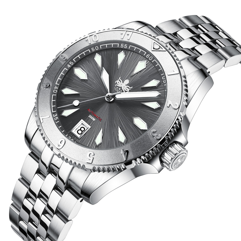 PHOIBOS Voyager 300M Automatic Diver Watch PY026E Grey