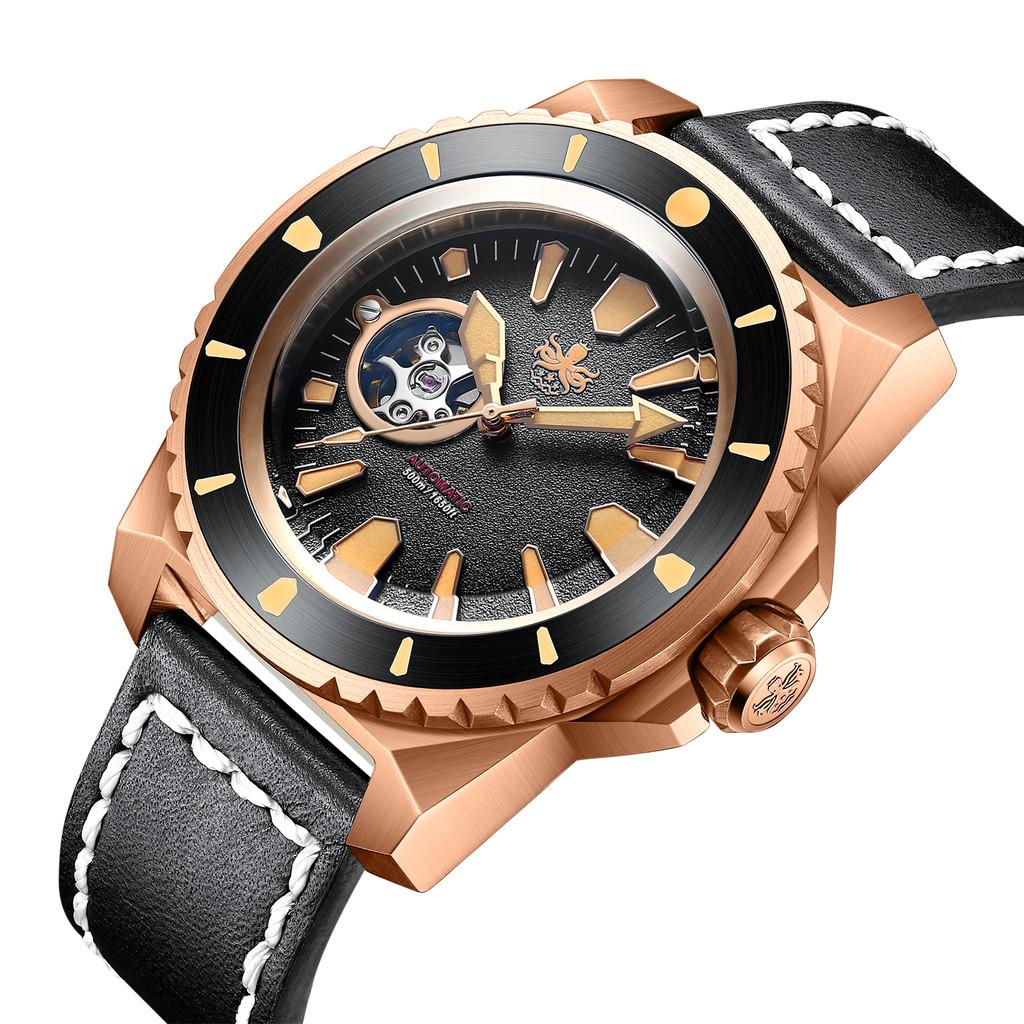 PHOIBOS LEVIATHAN BRONZE PY027C 500M Automatic Diver Watch Black Limited Edition