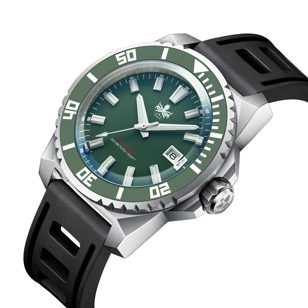 PHOIBOS LEVIATHAN PY032A 500M Automatic Diver Watch Green