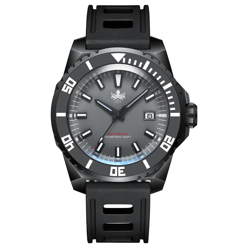 PHOIBOS LEVIATHAN PY032D DLC 500M Automatic Diver Watch Grey