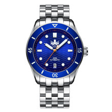 PHOIBOS WAVE MASTER PY010B 300M Automatic Dive Watch Blue
