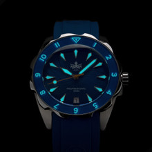PHOIBOS SEA NYMPH 300M Lady Diver Watch PX021B Blue