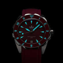 PHOIBOS SEA NYMPH 300M Lady Diver Watch PX021E Red
