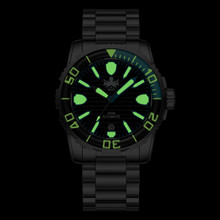 PHOIBOS GREAT WALL 500M Automatic Diver Watch PY022C Black (PY022C)