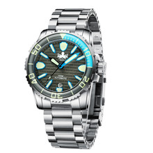 PHOIBOS GREAT WALL 500M Automatic Diver Watch PY022E Grey-Blue (PY022E)
