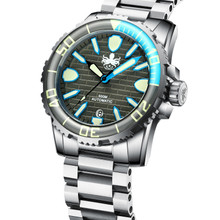 PHOIBOS GREAT WALL 500M Automatic Diver Watch PY022E Grey-Blue Limited Edition
