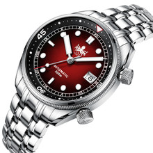 PHOIBOS EAGLE RAY 200M Automatic Compressor Dive Watch PY029E Red