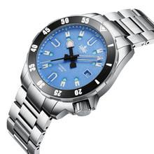 PHOIBOS APOLLO TITANIUM PY031B 200M Automatic Diver Watch Blue